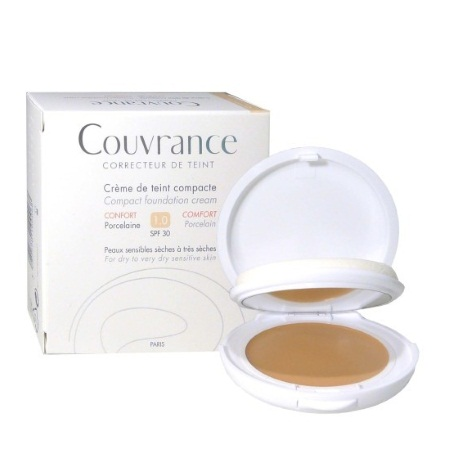 Couvrance Κρέμα Compact για Κανονικές-Μικτές Επιδερμίδες Oil Free 1.0 Porcelaine SPF30 10gr