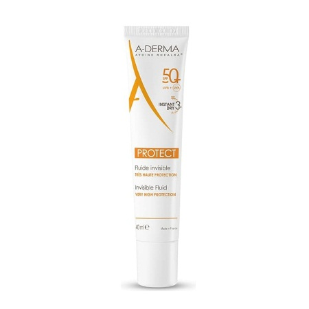 Aderma Protect Fluide Visage Invisible SPF50+ Διάφανη Αντιηλιακή Κρέμα Προσώπου 40ml