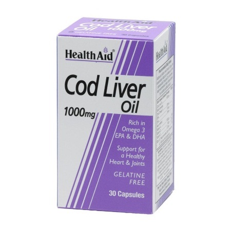 Health Aid Cod Liver Oil 30caps