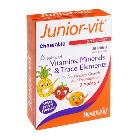 Health Aid Junior-Vit chewable 30tabs