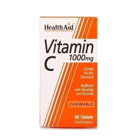 Health Aid Vitamin C 1000mg Chewable Orange Flavour 30tabs