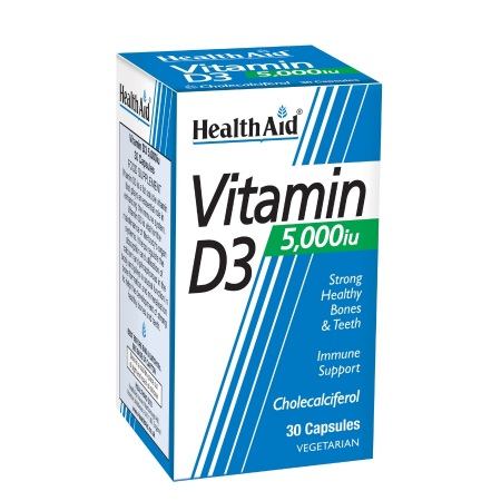 Health Aid Vitamin D3 5000 Iu Βιταμίνη D3 30 Tabs