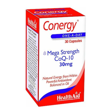 Health Aid Conergy Mega Strength Συνένζυμο Co Q10 30mg 90 κάψουλες