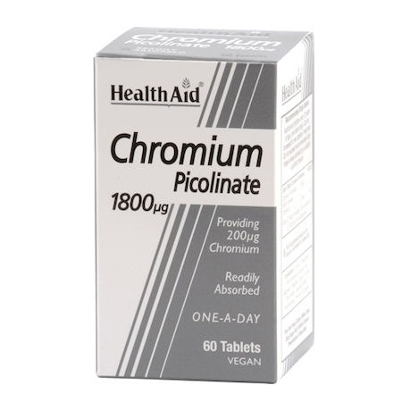 Health Aid Chromium Picolinate 1800 μg 60 Ταμπλέτες