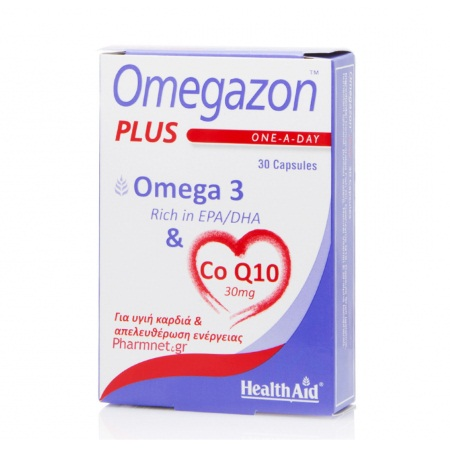 Health Aid Omegazon Plus Omega 3 & Co Q10 30mg 30caps