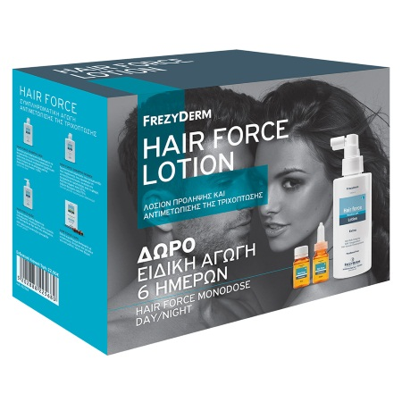 Frezyderm Hair Force Lotion 100ml ΜΕ ΔΩΡΟ Ειδική Αγωγή 6 Ημερών Hair Force Monodose Day 3x10ml &Hair Force Monodos Night 3x10ml