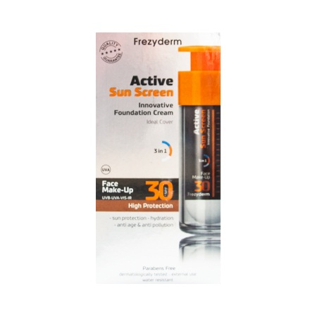 Frezyderm Sunscreen Active Face Make-up SPF30 Ενεργό Αντιηλιακό Make-up 30ml