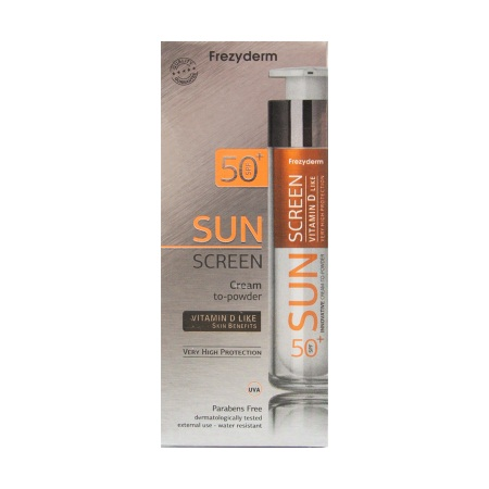 Frezyderm Sun Screen Cream To Powder Vitamin D Like Spf 50+ 50ml