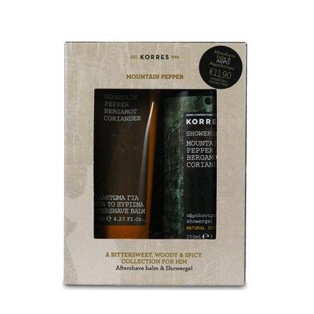 Korres Πακέτο Προσφοράς After Shave Mountain Pepper/Bergamot/Coriander 125ml & ΔΩΡΟ Αφρόλουτρο Mountain Pepper/Bergamot/Coriander 250ml
