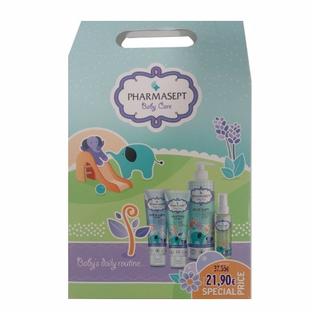 Pharmasept Baby Kit Promo Pack με Mild Bath Αφρόλουτρο 500ml + Soothing Cream 150ml + Extra Calm Cream 150ml + Baby Natural Oil 100ml