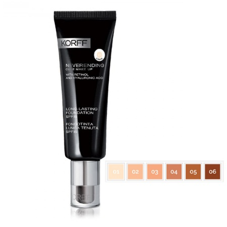 Korff Cure Long Lasting Foundation SPF15 02 Amande Βάση Μακιγιάζ 30ml