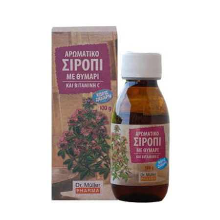 Dr. Müller Pharma Syrup Thyme and Vitamin C Σιρόπι με Θυμάρι και Bιταμίνη C 100gr