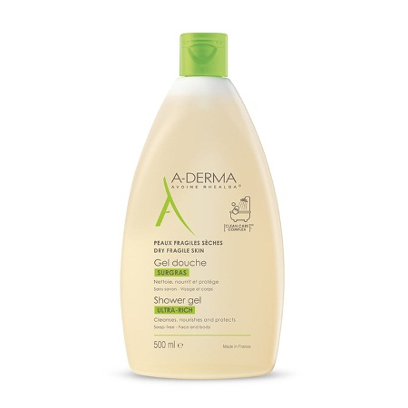 Aderma Gel Douche Surgras Ultra-Rich shower gel 500ml
