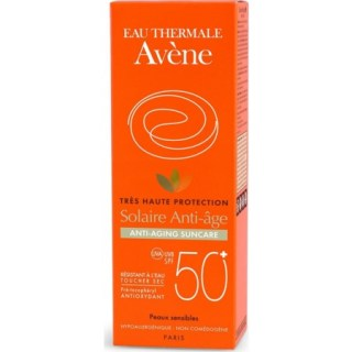 Avene Eau Thermale Solaire Anti-age Dry Touch SPF50+ Αντηλιακή Αντιγηραντική Κρέμα Προσώπου 50ml