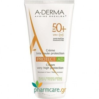 Aderma Protect AD Creme Tres Haute Protection SPF50+ Αντιηλιακή Πολύ Υψηλής Προστασίας για Ατοπικό & Επιρρεπές Δέρμα 150ml