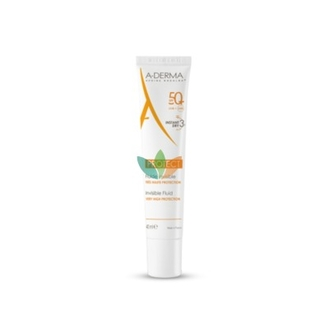 Aderma Protect Fluide Visage Invisible SPF50+ Αντιηλιακή Προσώπου 40ml