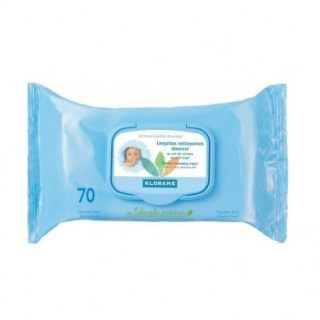 Klorane Bebe Cleansing Wipes Μωρομάντηλα με Καλέντουλα 70 Τεμάχια