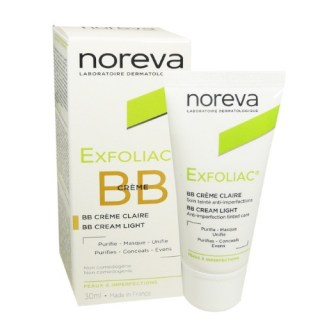 Noreva Exfoliac BB Light Tinted Anti-imperfections Treatment Cream 30ml