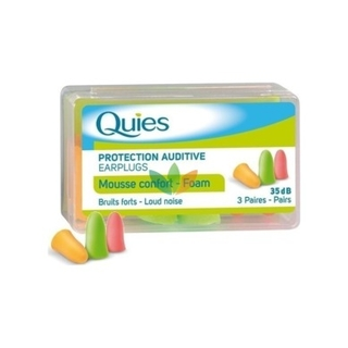 Quies Protection Auditive Earplugs Ωτασπίδες 3 Τμχ