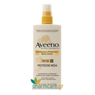 Aveeno Continuous Protection Spray Solare SPF20 150ml