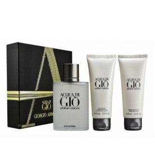 Giorgio Armani Set Aqua Di Gio For Man 100ml + ΔΩΡΟ Acqua Di Gio All Over Body Shampoo 75ml + Acqua Di Gio After Shave Balm 75ml