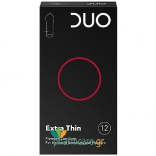 Duo Extra Thin Προφυλακτικά Πολύ Λεπτά 12τμχ