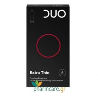 Duo Extra Thin Προφυλακτικά Πολύ Λεπτά 6τμχ