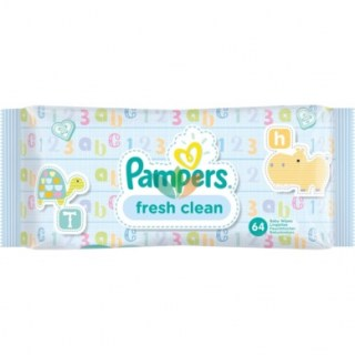 Pampers Fresh Clean Μωρομάντηλα 64 τεμάχια