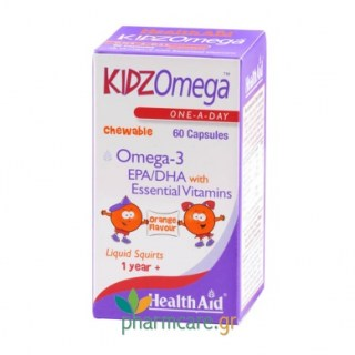 Health Aid Kidz Omega-3 EPA/DHA Chewable 60caps