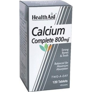 Health Aid Calcium Complete Ασβέστιο 800mg 120 ταμπλέτες