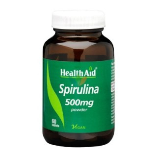 Health Aid Spirulina 500mg 100% Hawaiian 60 ταμπλέτες