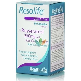 Health Aid Resolife Resveratrol 250mg 60 Caps