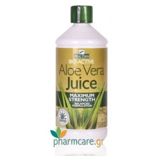 Optima Aloe Vera Juice Maximum Strength 100% φυσικός χυμός Αλόης 1000ml