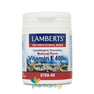 Lamberts Vitamin E 400iu Natural Form 60 κάψουλες