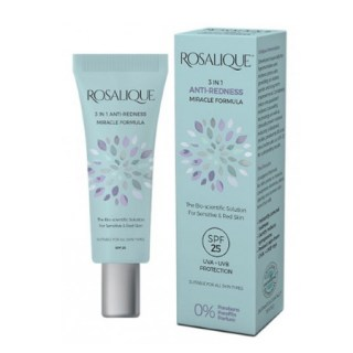 Rosalique 3 in 1 Anti-Redness Miracle Formula SPF25 για Δέρματα με Ερυθρότητα 30ml
