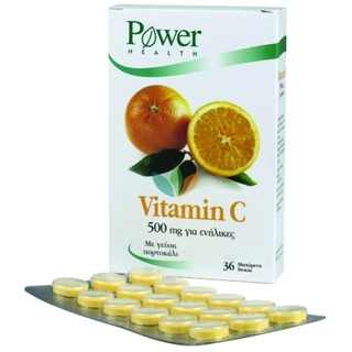 Power Health Vitamin C 500mg Βιταμίνη C 36 Chew. Tabs