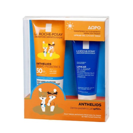 La Roche Posay Promo Pack Anthelios Dermo-Pediatrics Lotion SPF50+ Παιδικό Αντιηλιακό Γαλάκτωμα 250ml + ΔΩΡΟ Lipikar Lavant Shower Gel 100ml
