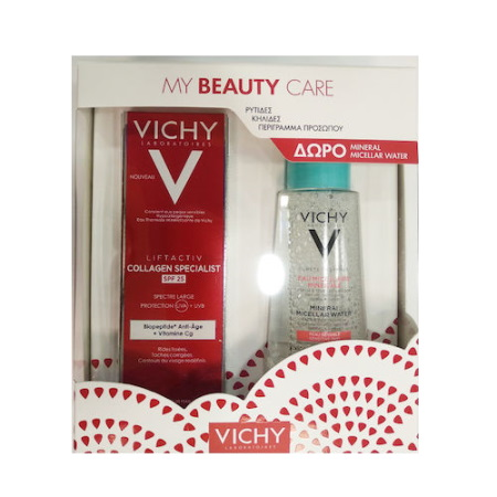 Vichy Promo Pack Liftactiv Collagen Specialist SPF25 Αντιγηραντική Αντιηλιακή Κρέμα Προσώπου 50ml + ΔΩΡΟ Mineral Micellar Water Sensitive 100ml