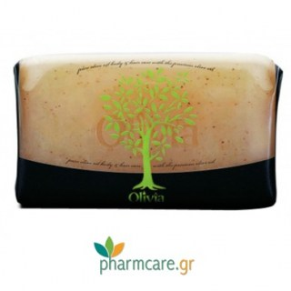 Papoutsanis Olivia Natural Glycerine Exfoliating Soap Φυτικό Σαπούνι Απολέπισης με Γλυκερίνη 125gr