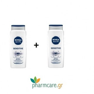 Nivea Men Sensitive Shower Gel 500ml 1+1 ΔΩΡΟ