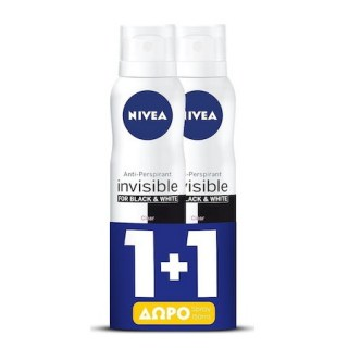 Nivea Black & White Invisible Silky Smooth Skin Conditioner 150ml ΔΩΡΟ 1+1