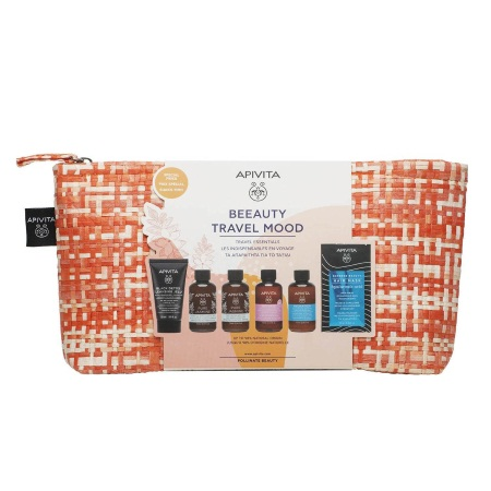 Apivita Promo Travel Kit Beeauty Travel Mood Black Detox Pure Jasmine Intimate Hydration Hair Mask Hyaluronic Acid Σετ Ταξιδιού