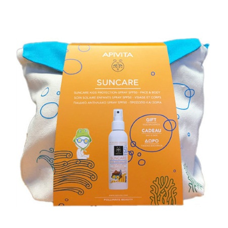Apivita Suncare Kids Protection Spray Face & Body SPF50 150ml + ΔΩΡΟ Παιδικό Backpack