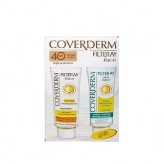 Coverderm Filteray SPF80 Tinted Κρέμα Προσώπου Light Beige 50ml & ΔΩΡΟ After Sun Cream Gel 50ml_product