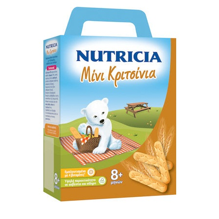 Nutricia Βρεφικά Μίνι Κριτσίνια από 8+ μηνών 180gr