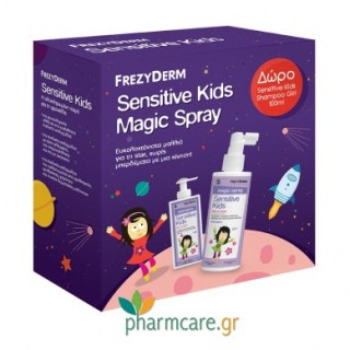 Frezyderm Sensitive Kids Magic Spray for Girls Αρωματική Λοσιόν 150ml + ΔΩΡΟ Sensitive Kids Shampoo for Girls Σαμπουάν για Κορίτσια 100ml