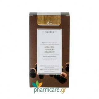 Korres Argan Oil Advanced Colorant 8.0 Ξανθό Ανοιχτό 50ml