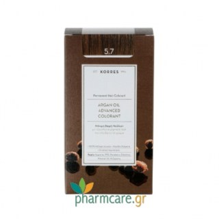 Korres Argan Oil Advanced Colorant 5.7 Σοκολατί 50ml