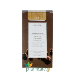 Korres Argan Oil Advanced Colorant 8.7 Καραμέλα 50ml