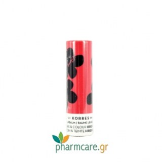 Korres Lipbalm Care & Colour Hibiscus Stick με Ιβίσκο 5ml